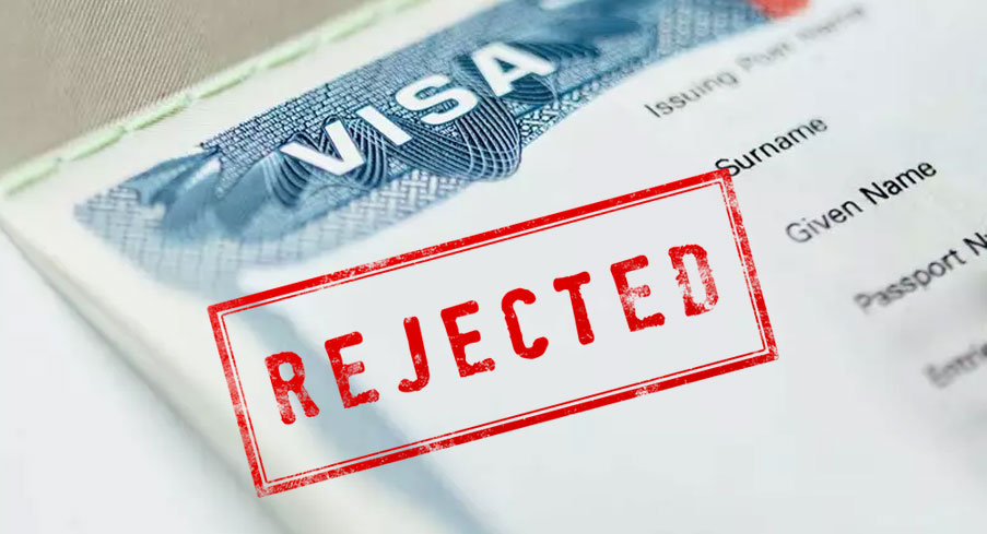 Reasons for Rejection of Your Visa Application